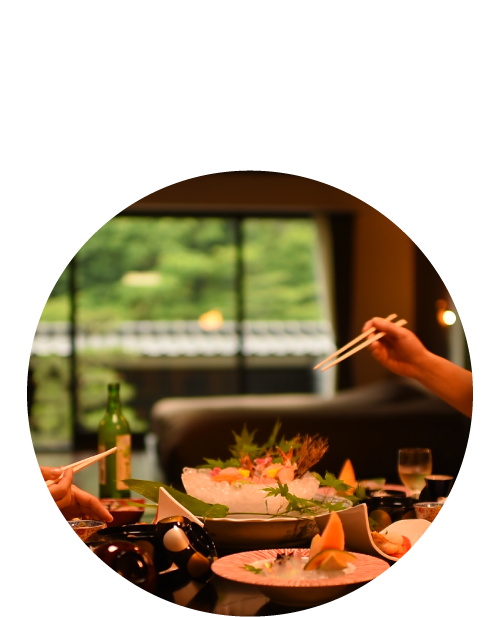 贅沢にお料理を堪能!お料理も愉しみたい方